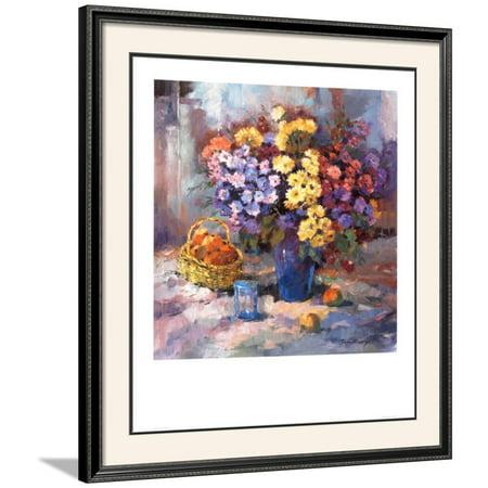 Stilleben Framed Art Print Wall Art  By Ricky Damen - 35x39 (Online Shop Damen Günstig)
