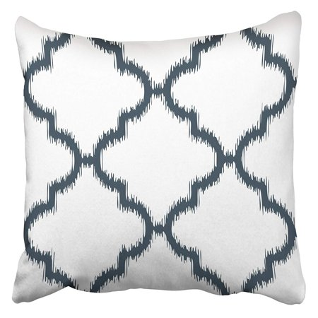 ARHOME Accessory Faux Ikat Moroccan Pattern All Arabic Bunting Graphic Interior Lines Pillow Case Cushion Cover 18x18 inch