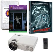 Halloween Projector Kit for Windows, Doors & Walls with Ghostly Apparitions AtmosFEARFx DVD + 2 Screens (R/D) + Projector