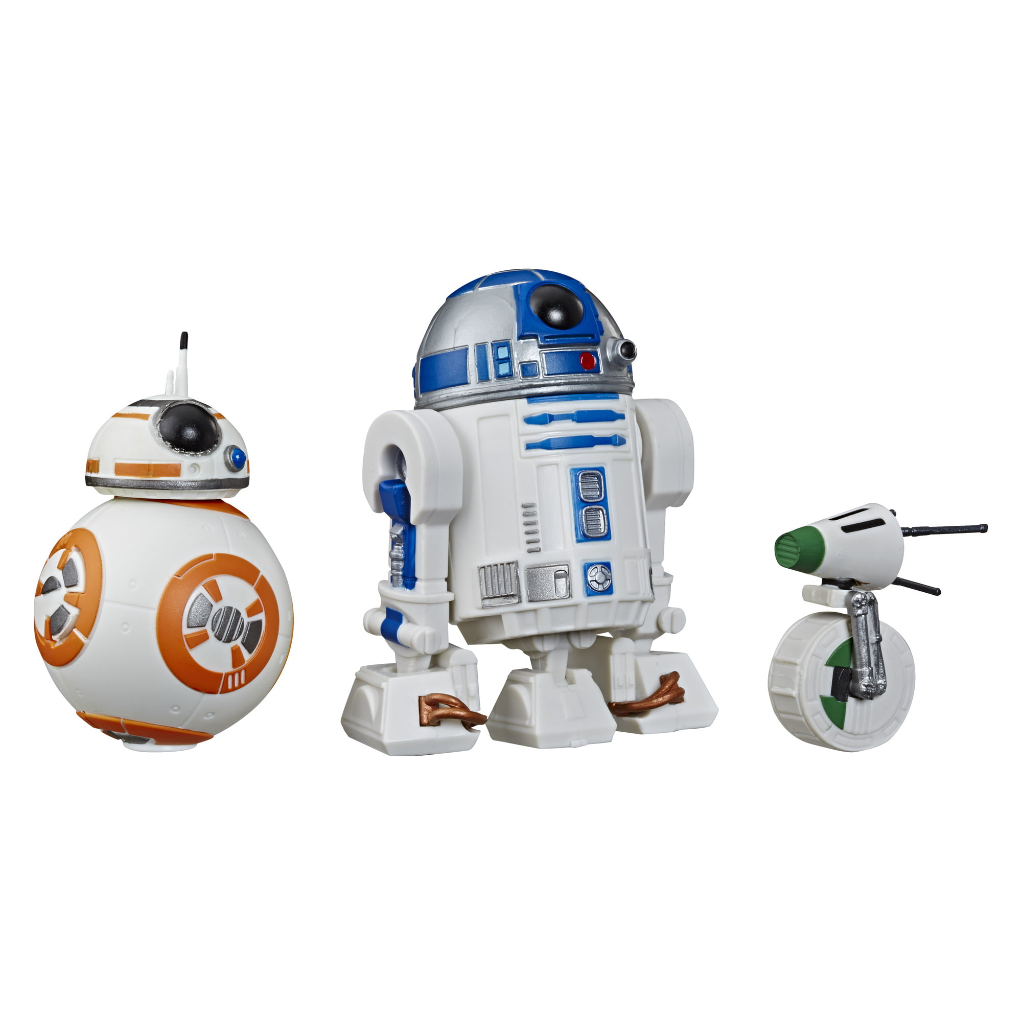 Star Wars Galaxy of Adventures R2-D2, BB-8, D-O 3-pack Toy Droid Figures - Walmart.com