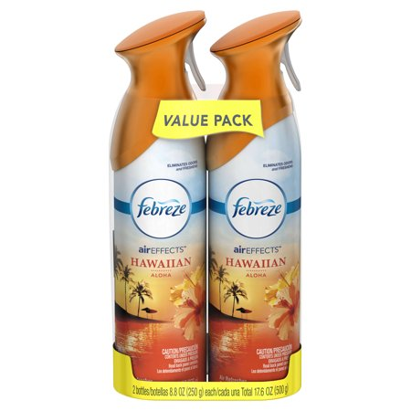 (2 pack) Febreze AIR Effects Air Freshener Hawaiian Aloha (4 Count, 17.6 oz)