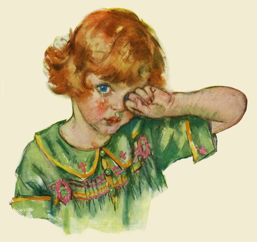 Child Crying Poster Print By Mary EvansPeter & Dawn Cope Collection