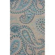 nuLOOM Venice Paula Hand-Woven Beige/Blue Area Rug