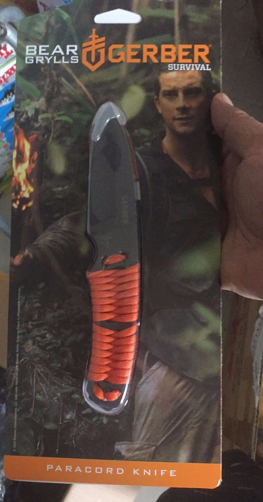 Gerber Bear Grylls Paracord Wrapped Handle Fixed Blade Survival Knife 31-001683 by