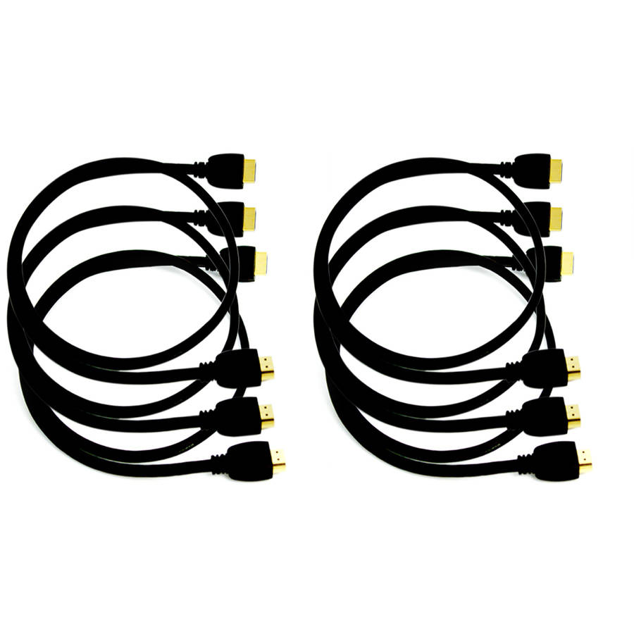 QualGear 3' High-Speed HDMI 2.0 Cable with Ethernet