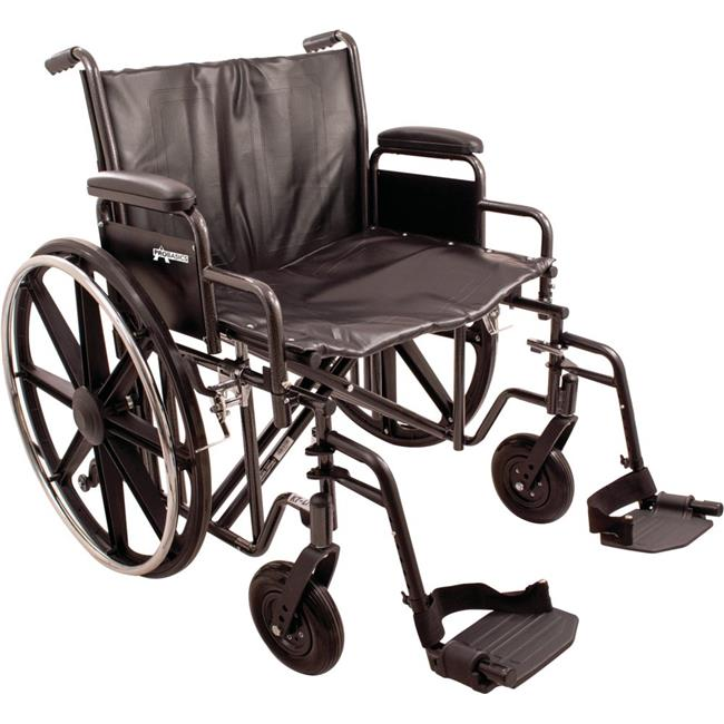 Roscoe Medical WC72418DS 24 x 18 in. K7 Swing Away Extra Heavy Duty Wheelchair