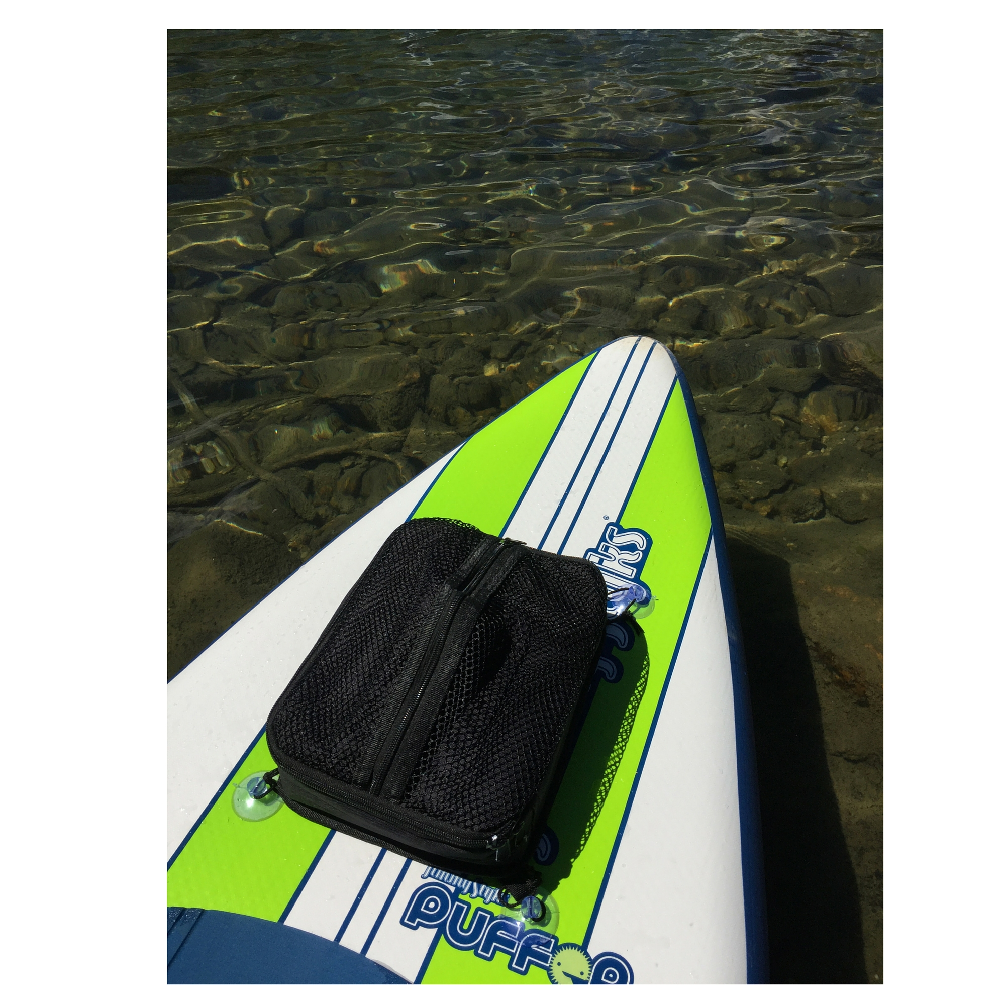 Paddle Board Cooler & Mesh Bag In One By Paddle Board Accessories Company (Black) by
