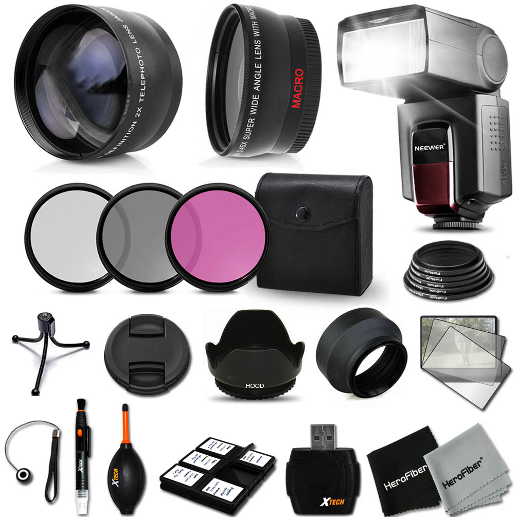 Premium Flash 58mm Accessory Kit for Canon EOS REBEL T6 T...