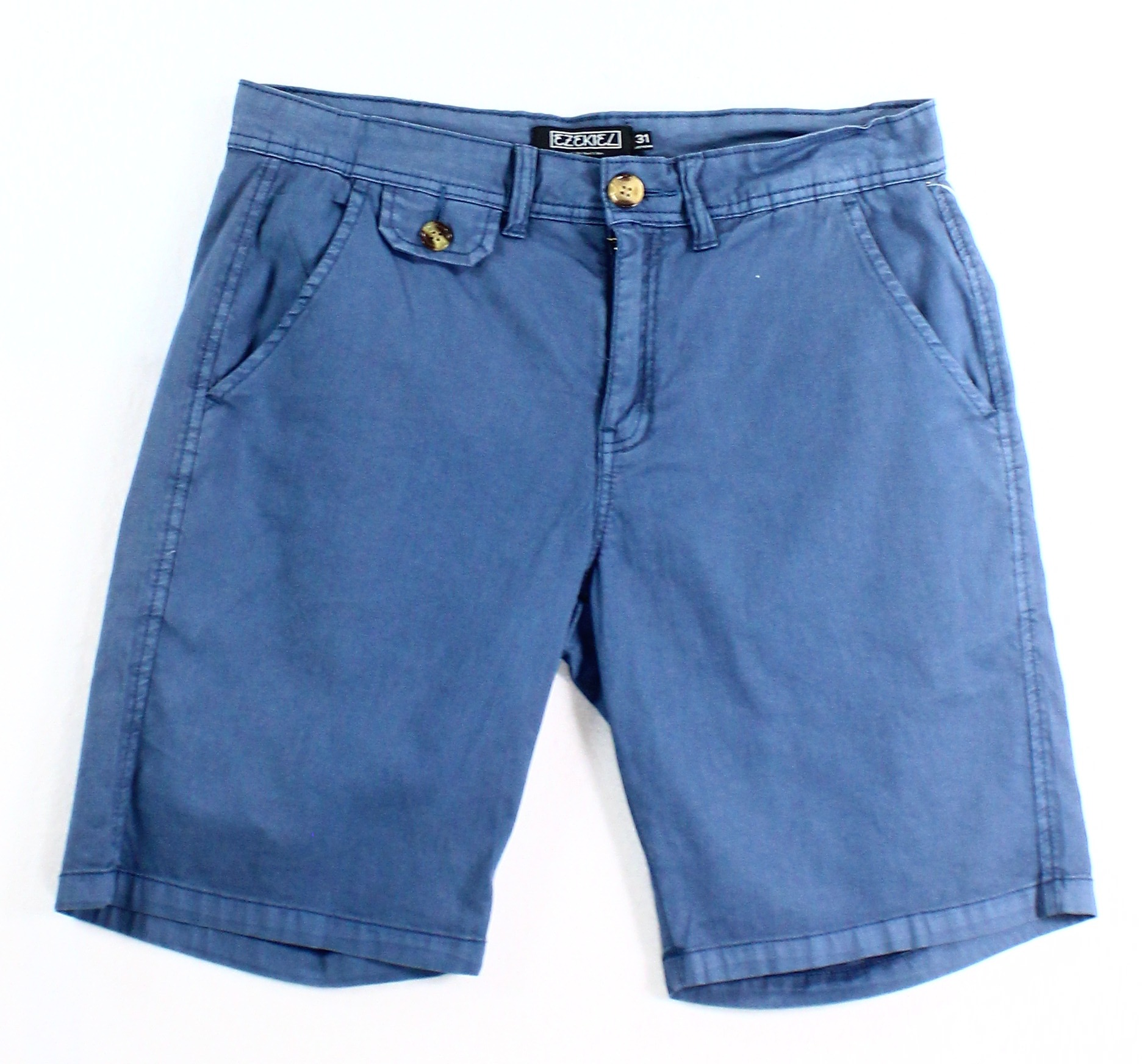 Ezekiel NEW Blue Mens Size 31 Khakis Chinos Clifford Wash Seamed Shorts