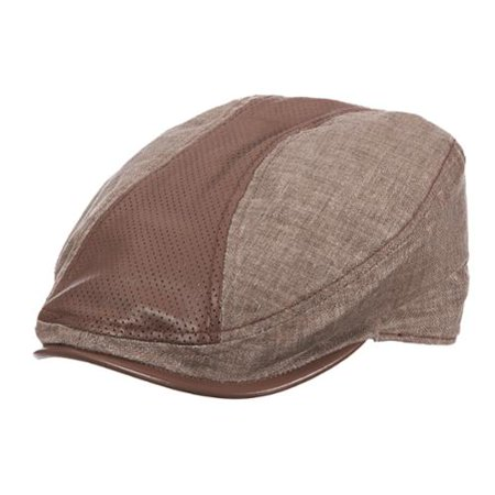 0330a33c6fb51 Stetson - Size Large Mens Cotton and Leather Ivy Cabbie Hat
