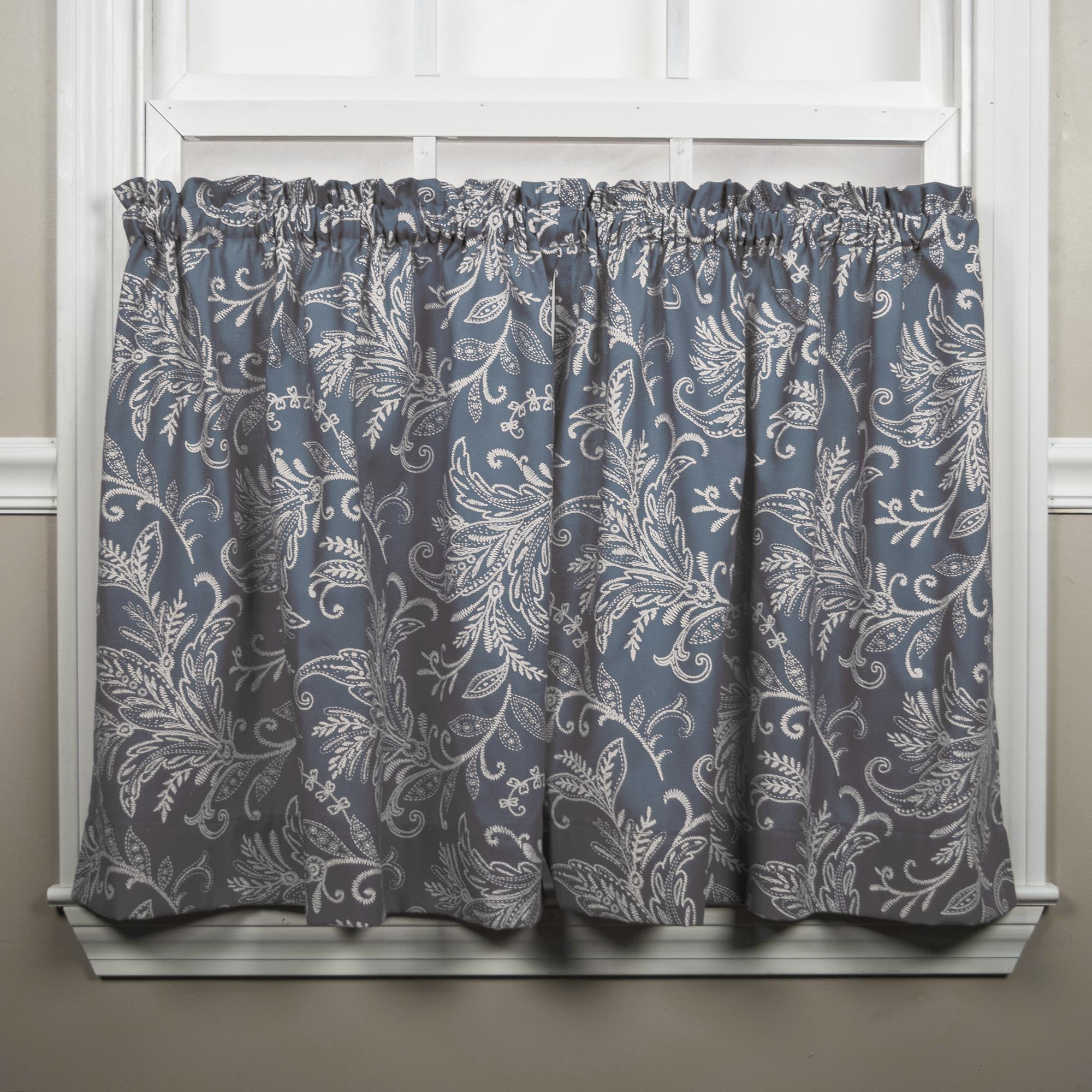 Ellis Curtain Tuscany Lined Grommet Panel 50 x 63 Blue A.L Ellis 730462118295