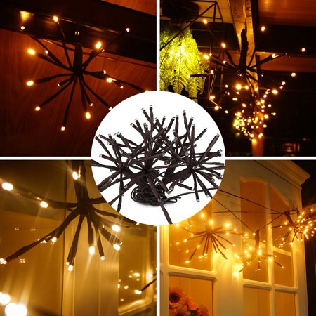 ED Decorative Lights, Brown cord, DIY Party Lights Decorative Branch Lights, 8 Flashing Modes, Twig Starburst Water Resistant Fairy String Lights for Garden, Wedding, Christmas Party 6.5ft/2m 100LEDs ()