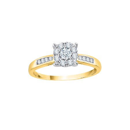 8b9e5f7bce1 KATARINA - KATARINA Diamond Cluster Engagement Ring in 14K Yellow Gold (1 4  cttw