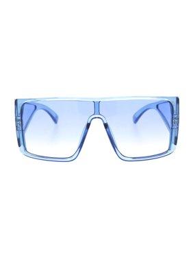 7d4a01d91e Product Image Mobster Oversize Side Visor Lens Shield Flat Top Plastic  Sunglasses Black