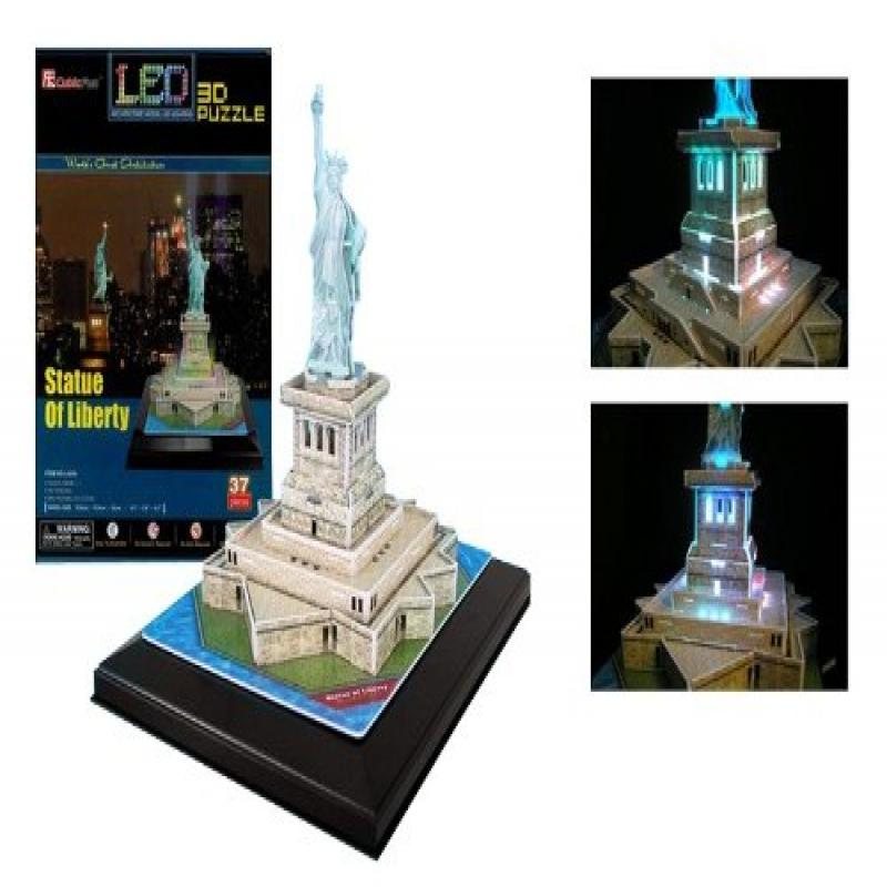 Statue of Liberty 3D Puzzle with LED, 37 Pieces