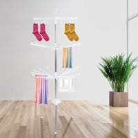 Clothes Line Airer Rack Indoor Steel Drying Space Foldable Portable Clothes Hanger