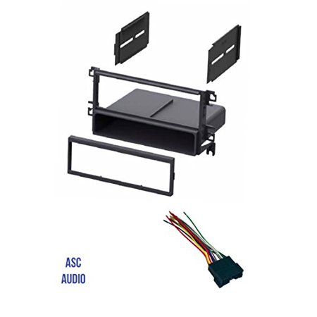 ASC Car Stereo Radio Dash Kit and Wire Harness for installing a Single Din Radio for some 2001 - 2006 Hyundai Elantra, 2001 - 2006 Hyundai Santa Fe, 2002 - 2005 Hyundai Sonata, 2003-2008