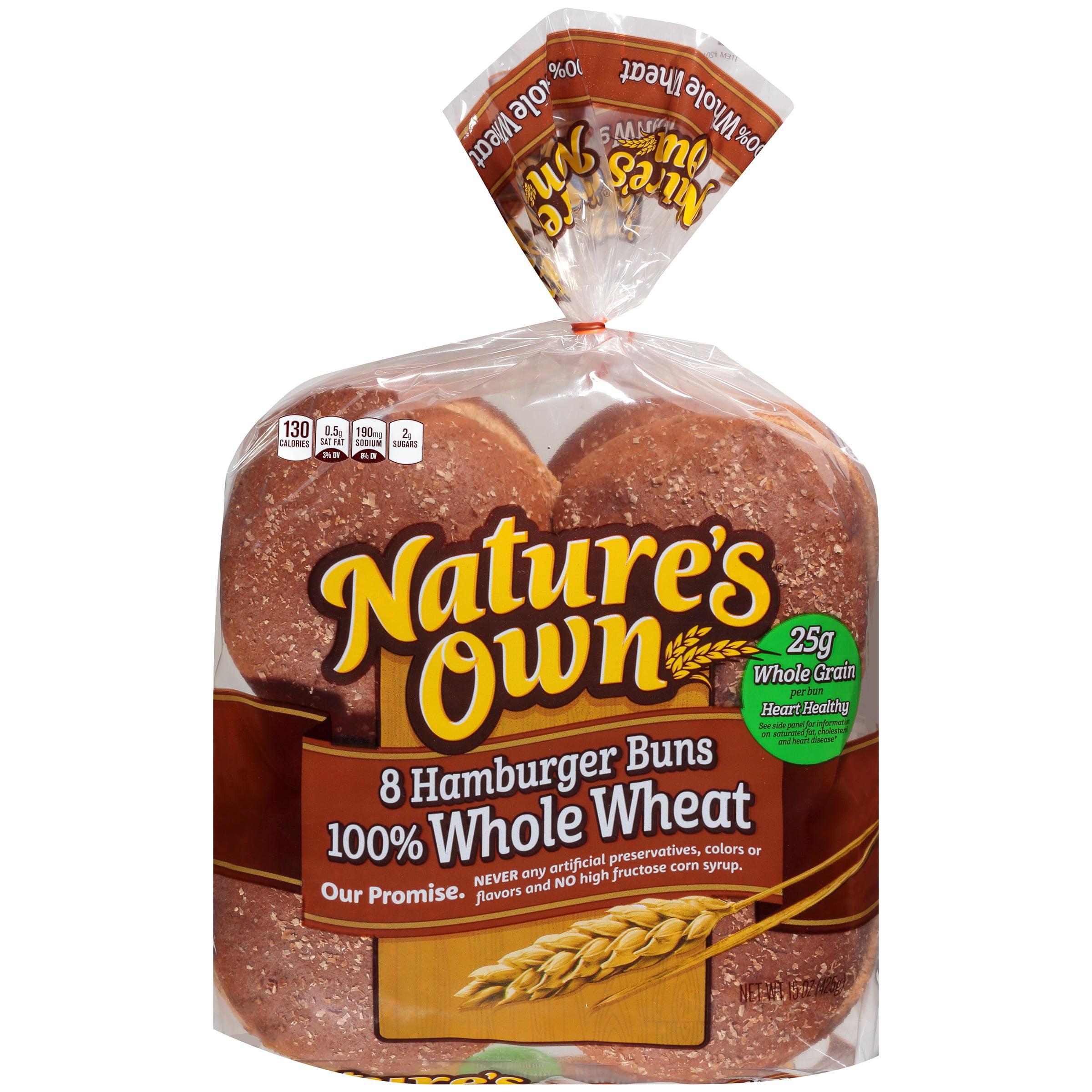 Nature's Own® 100% Whole Wheat Hamburger Buns 15 oz. Bag