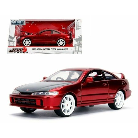 - JADA 1:24 W/B - METALS - JDM TUNERS - 1995 HONDA INTEGRA TYPE-R (JAPAN SPEC) (RED) 30932
