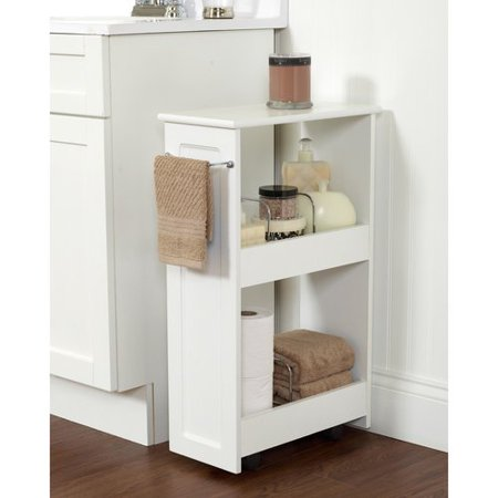 Zenith Products 2-Shelf Rolling Bath Cart, White - Zenith Products 2-Shelf Rolling Bath Cart, White - Walmart.com