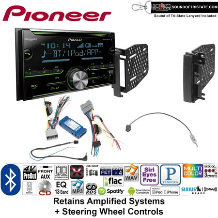 - Pioneer FH-S701BS Double Din Radio Install Kit with CD Player Bluetooth Fits 2009-2010 Ram 2011-2014 Chrysler 200 (Retains Steering wheel controls) + Sound of Tri-State Lanyard