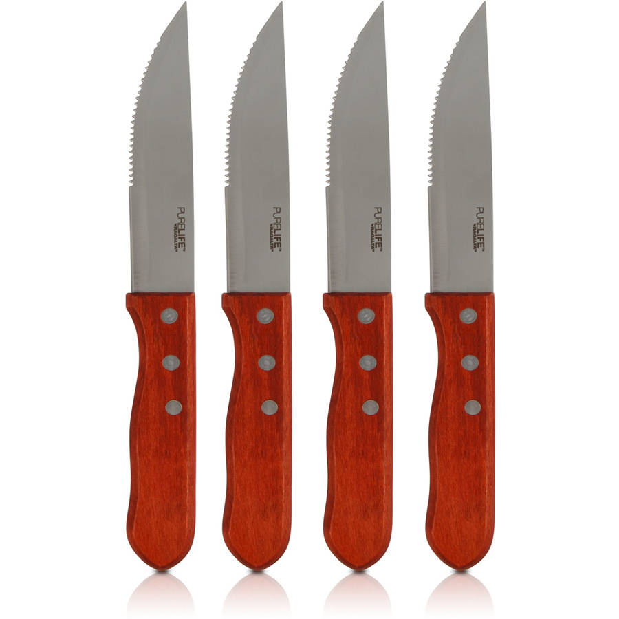 Ragalta 4-Piece Steak Knives with Wood Handles