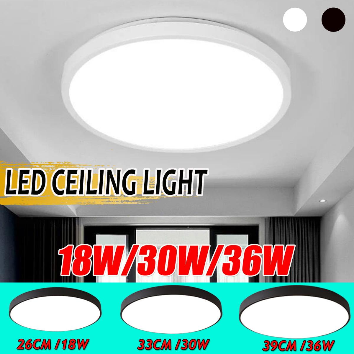 Image of: Ceiling Lights Led Flush Mount 6000k 6500k 18w 30w 36w Ceiling Lighting Fixtures Daylight White For Living Room Bedroom Kitchen Hallway Office Walmart Canada