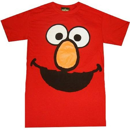 1a1ecc5c4 Sesame Street - Elmo Face Adult T-Shirt - Walmart.com