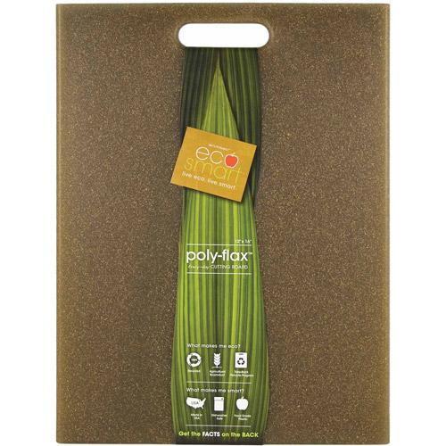 """Architec 12"""" x 16"""" Green EcoSmart Poly Flax Cutting Board"""