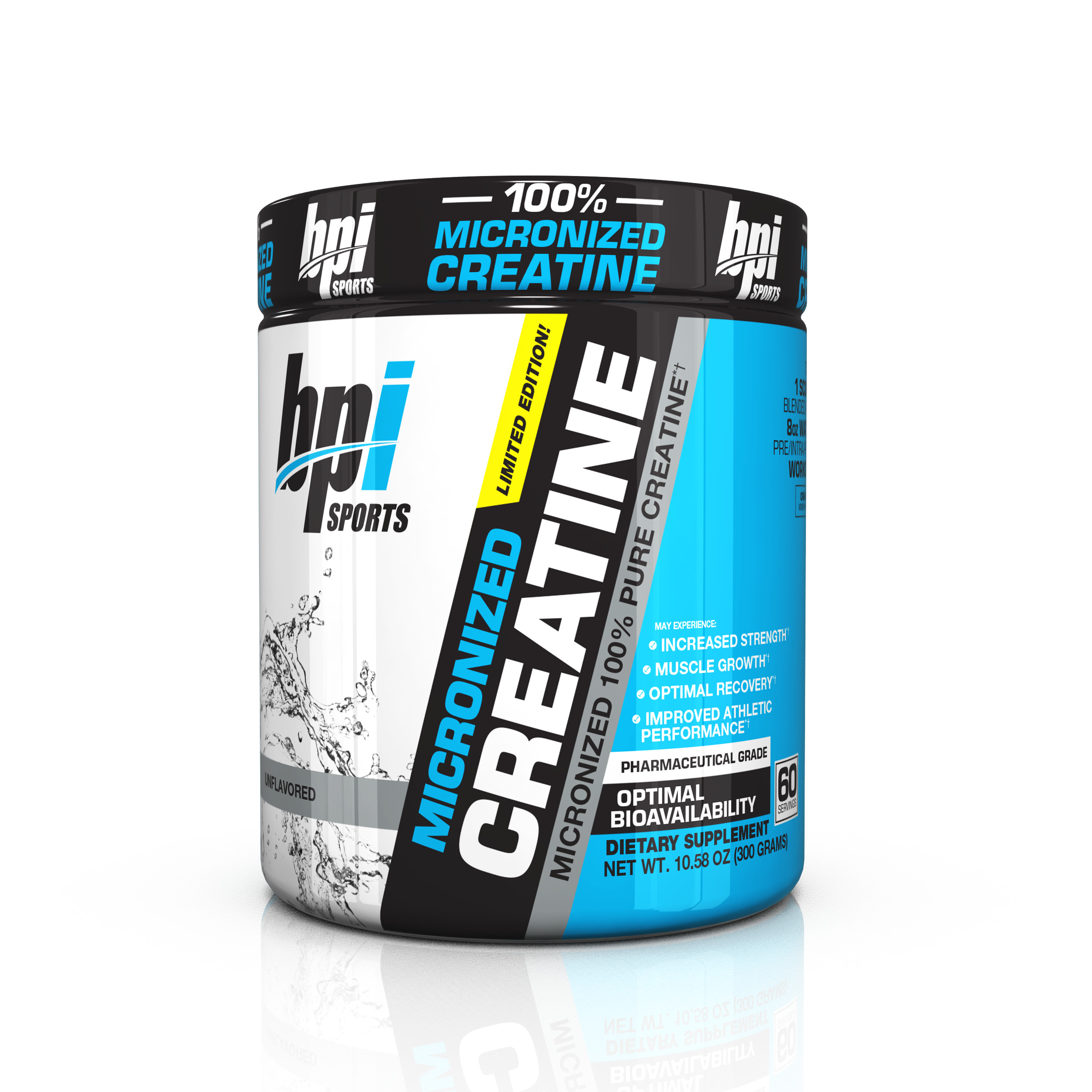BPI Sports Micronized Creatine Powder, Unflavored, 60 Servings