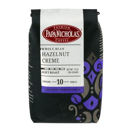 Hazelnut Bean (PapaNicholas Coffee Hazelnut Crème Whole Bean 10oz Bag)