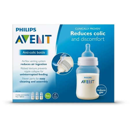 Best Philips Avent Anti-Colic BPA-Free Baby Bottles - 9oz, Clear, 3 ct deal