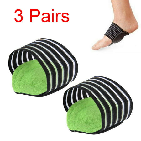 TekDeals 3 Pairs Elastic Cushioned Arch Support for Men Women Breathable Plantar Fasciitis Arch Support Foot Arch Band (Womens Band Arch)