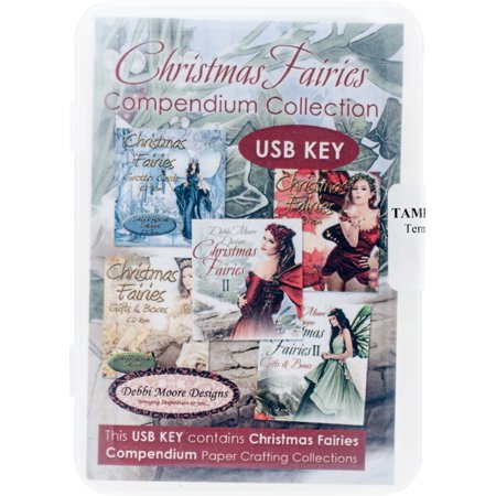 Debbi Moore Usb Key Compendium Paper Craft Collection-Christmas Fairies Vol. 1 - image 1 of 1