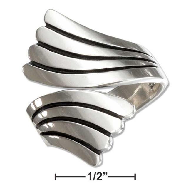 P-017991-08 8 in. Sterling Silver Four Band Bypass Ring - image 1 of 1