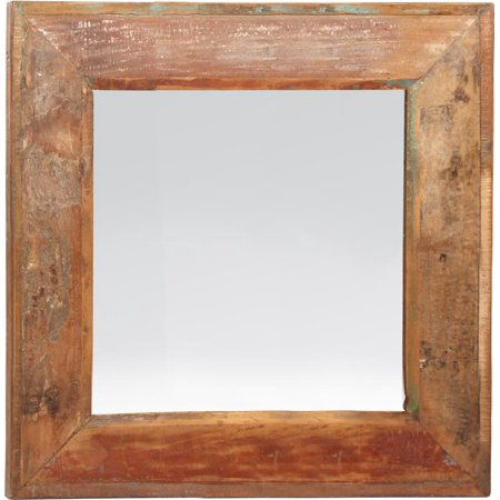 Wall Mirror DOVETAIL NANTUCKET Square Seal Medium Brown Distressed Paint (Best Way To Distress Painted Furniture)