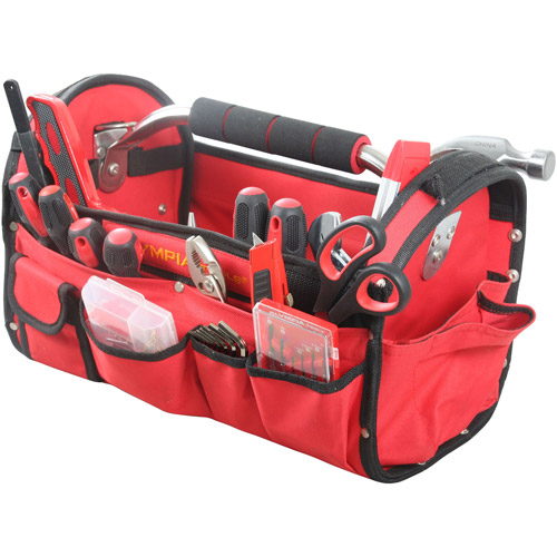 Olympia Tools 90-447 Red & Black Tool Bag 52 Piece Set