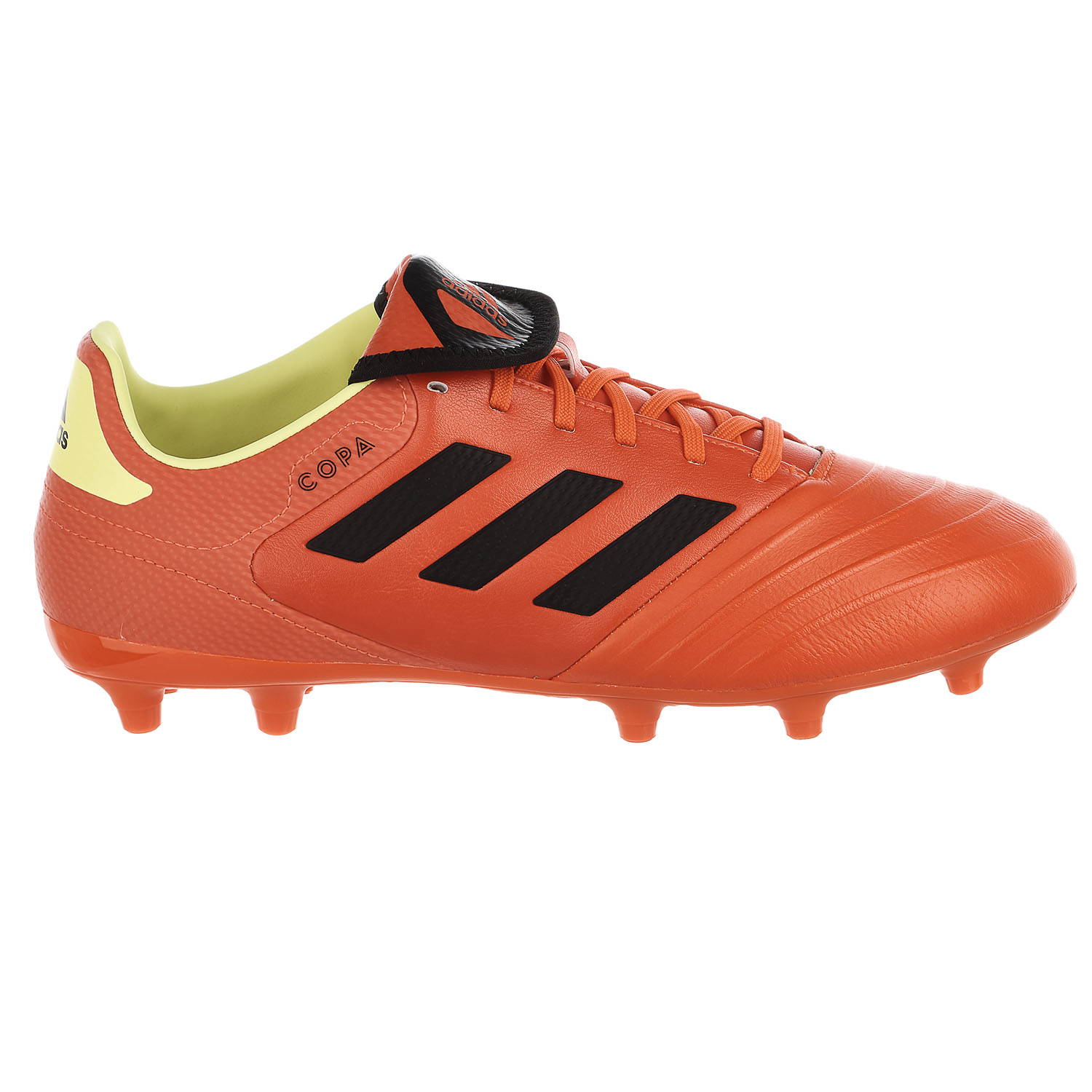 Adidas Copa 18.3 Firm Ground Soccer Shoe Solar Red Black Solar Yellow Mens 9 by Adidas