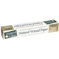 Natural Value Wax Paper Unbleachd 75 FT (Pack of 12)