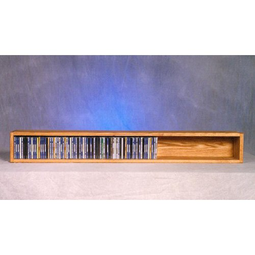 The Wood Shed Solid Oak Wall / Shelf Mount 118 CD Media Cabinet