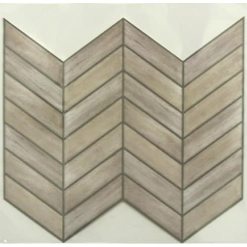 RoomMates Sticktiles Chevron Distressed Wood Peel and Stick Backsplash - 4 Pack