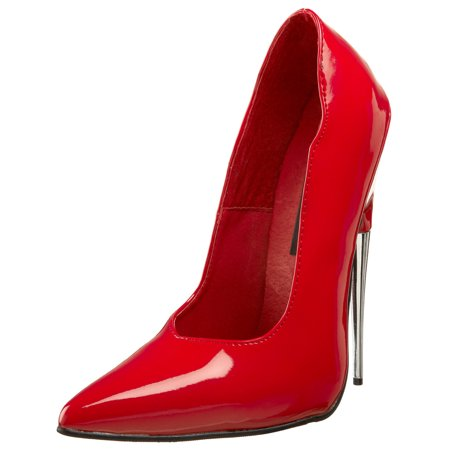 womens red fetish pumps 6 inch heels stilettos sexy red shoes pointed toe -