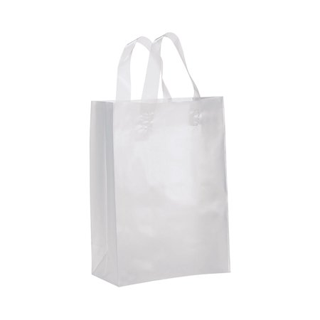 Medium Clear Frosted Plastic Gift Bags - Case of - Plastic Gift Bags
