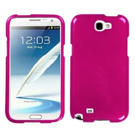 Insten Solid Hot Pink Hard Rubber Rubberized Case For Samsung Galaxy Note 2 II