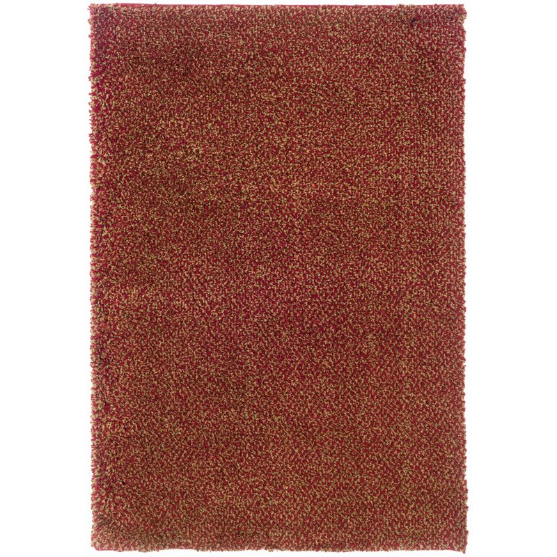 Oriental Weavers Loft Collection 2' x 3' Machine Woven Rug in Red