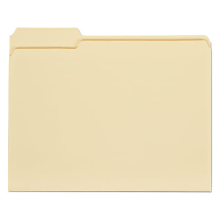 Universal File Folders, 1/3 Cut Assorted, One-Ply Top Tab, Letter, Manila, 100/Box -UNV12113