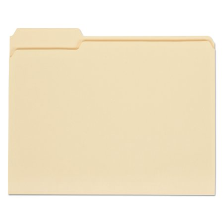 Universal Top Tab Manila File Folders, 1/3-Cut Tabs, Assorted Positions, Letter Size, 11 pt. Manila, 100/Box -UNV12113
