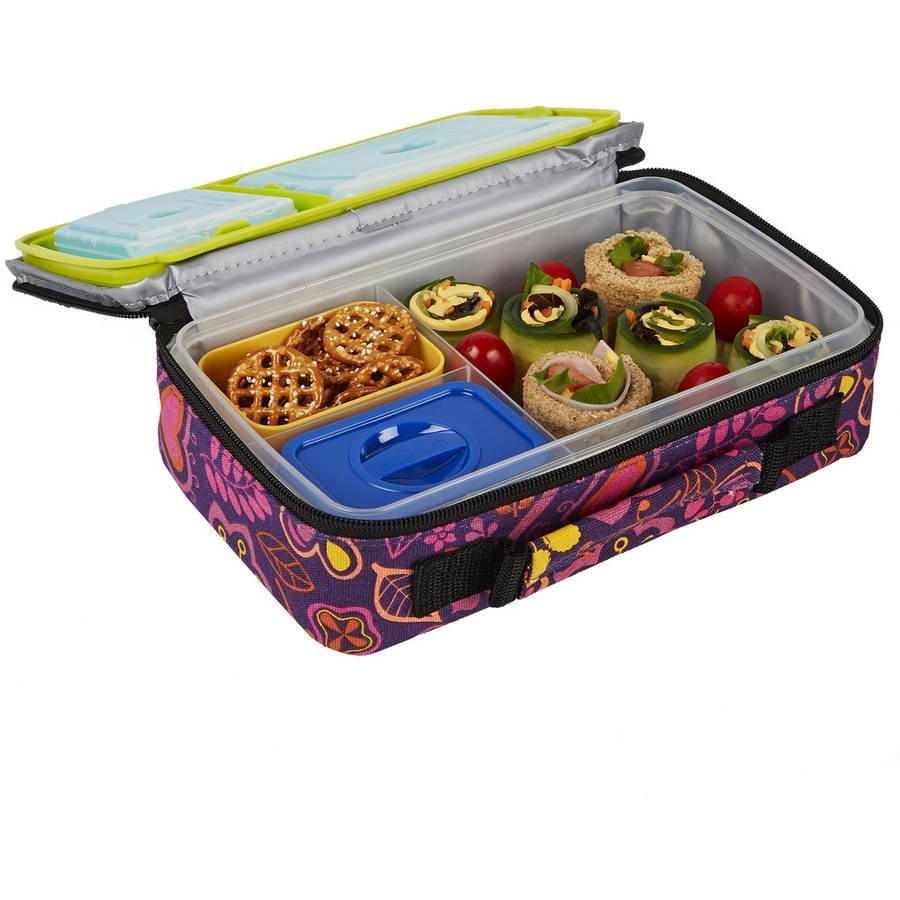 Fit & Fresh Bento Lunch Kit with Insulated Carry Bag