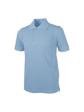 Real School Unisex School Uniform Short Sleeve Pique Polo Shirt (Unisex)
