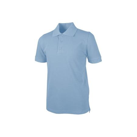 REAL SCHOOL Boys Short Sleeve Pique Polo (Uniform Real Photo)